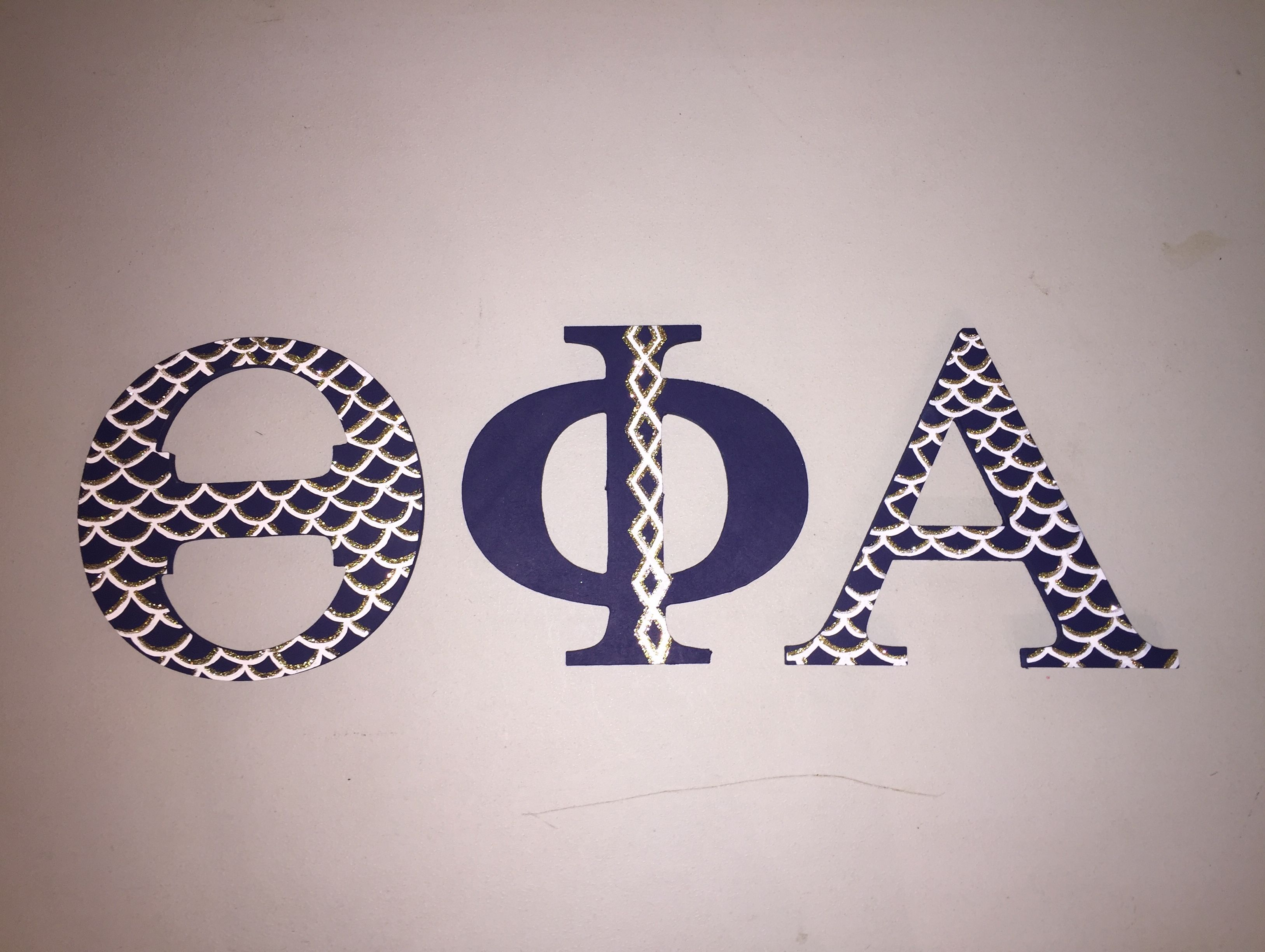 Theta Phi Alpha Painted Letters