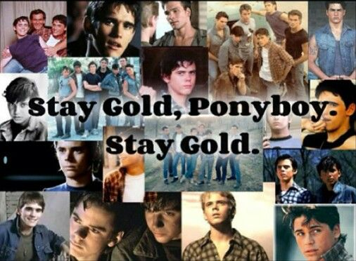 Stay Gold Ponyboy Stay Gold Collage The Outsiders Movie Cast Outsiders Movie The Outsiders Stay golden ponyboy and it is about winning through attrition, constantly killing anything he plays. stay gold ponyboy stay gold collage