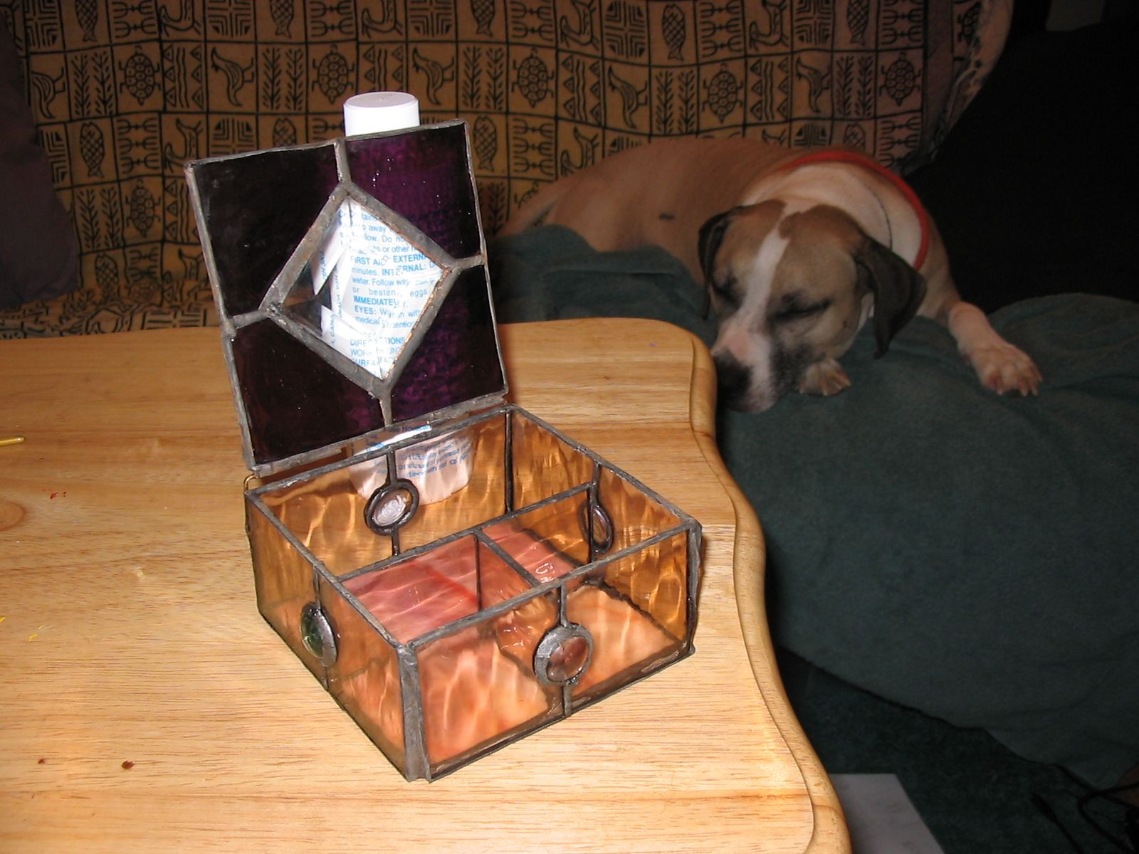 Jewellery Box For My Mum With Sezz The Beautiful Pitbull In The
