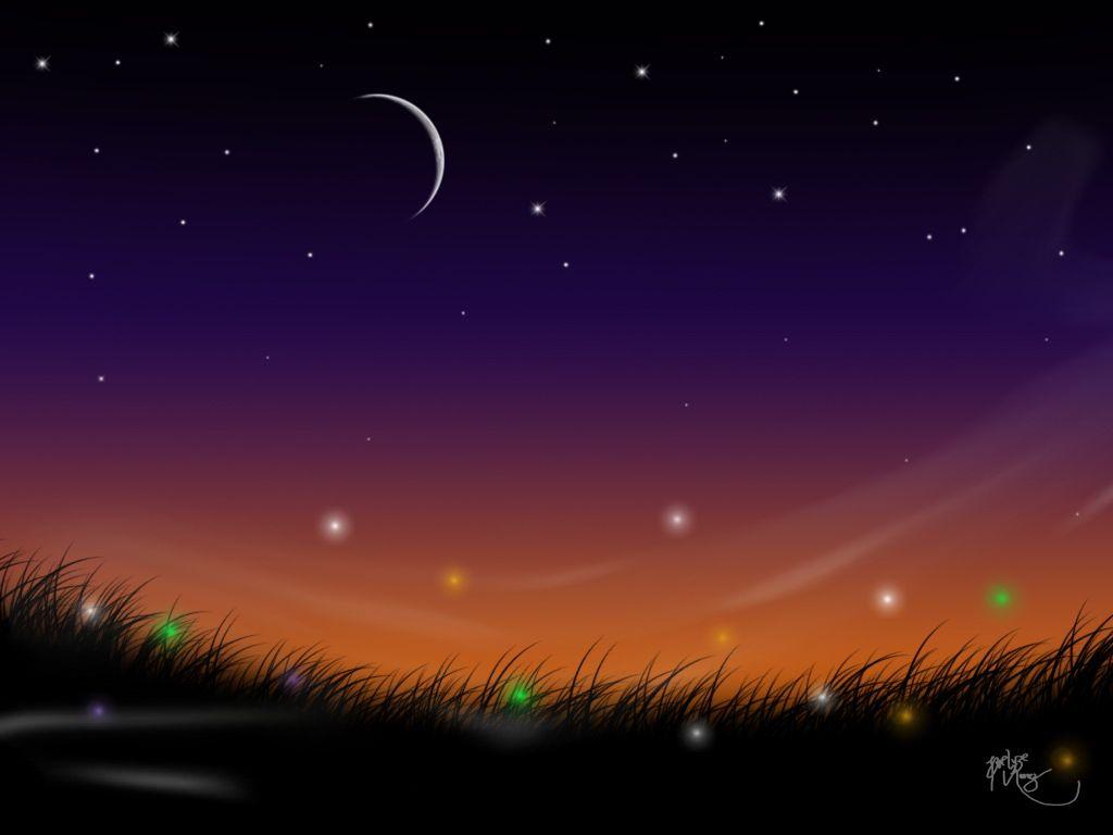 Beautiful Night Sky Beautiful Night Sky Landscape Wallpaper Desktop Background Scenery Wallpaper Landscape Wallpaper Sky Landscape