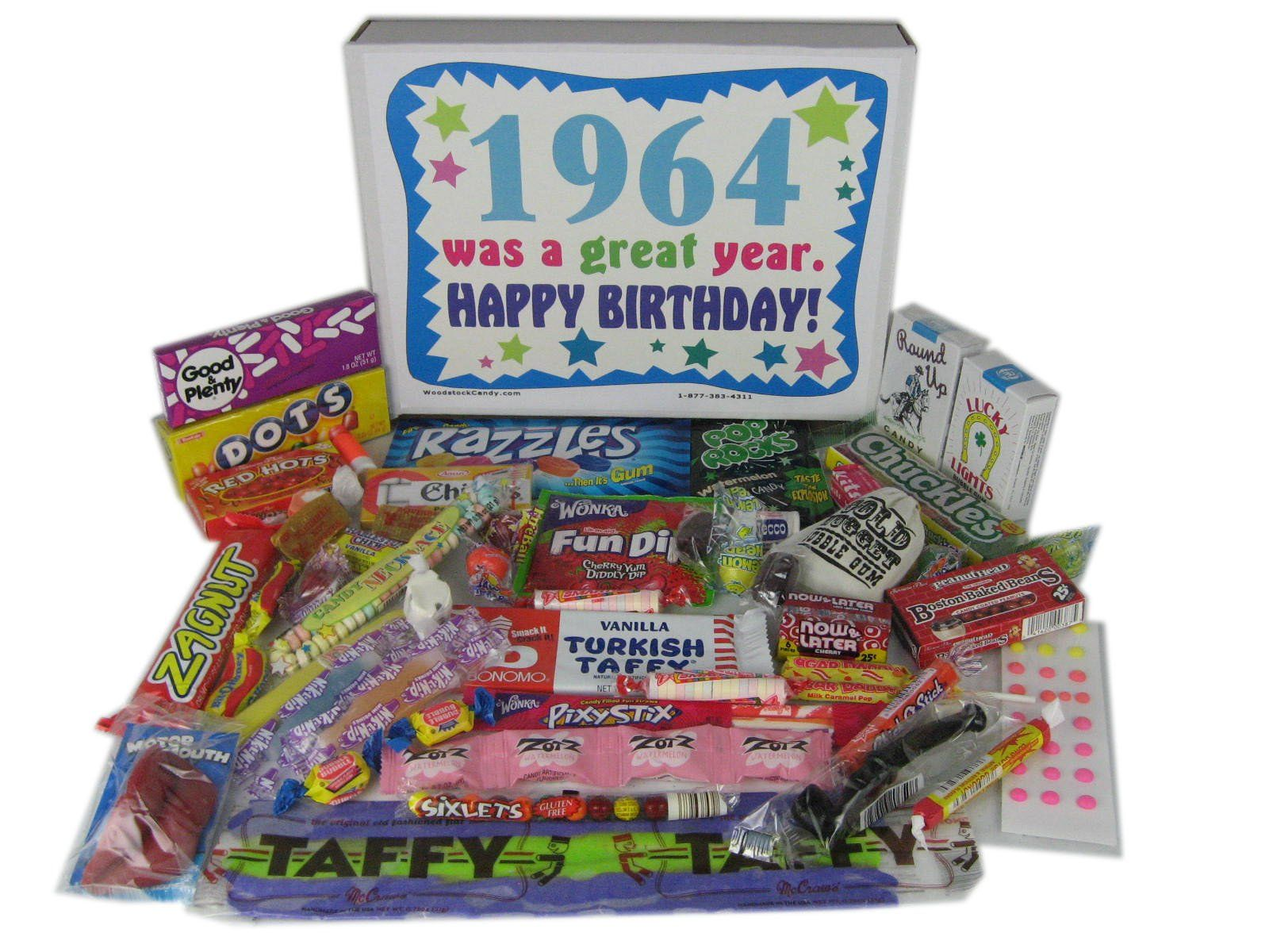 1964 50th Birthday Gift Basket Box Retro Nostalgic Candy From Childhood AmazonGrocery Gourmet Food
