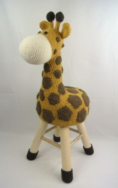 Dieren Kruk Haken Giraffe Haakpret Things For Mom To Crochet