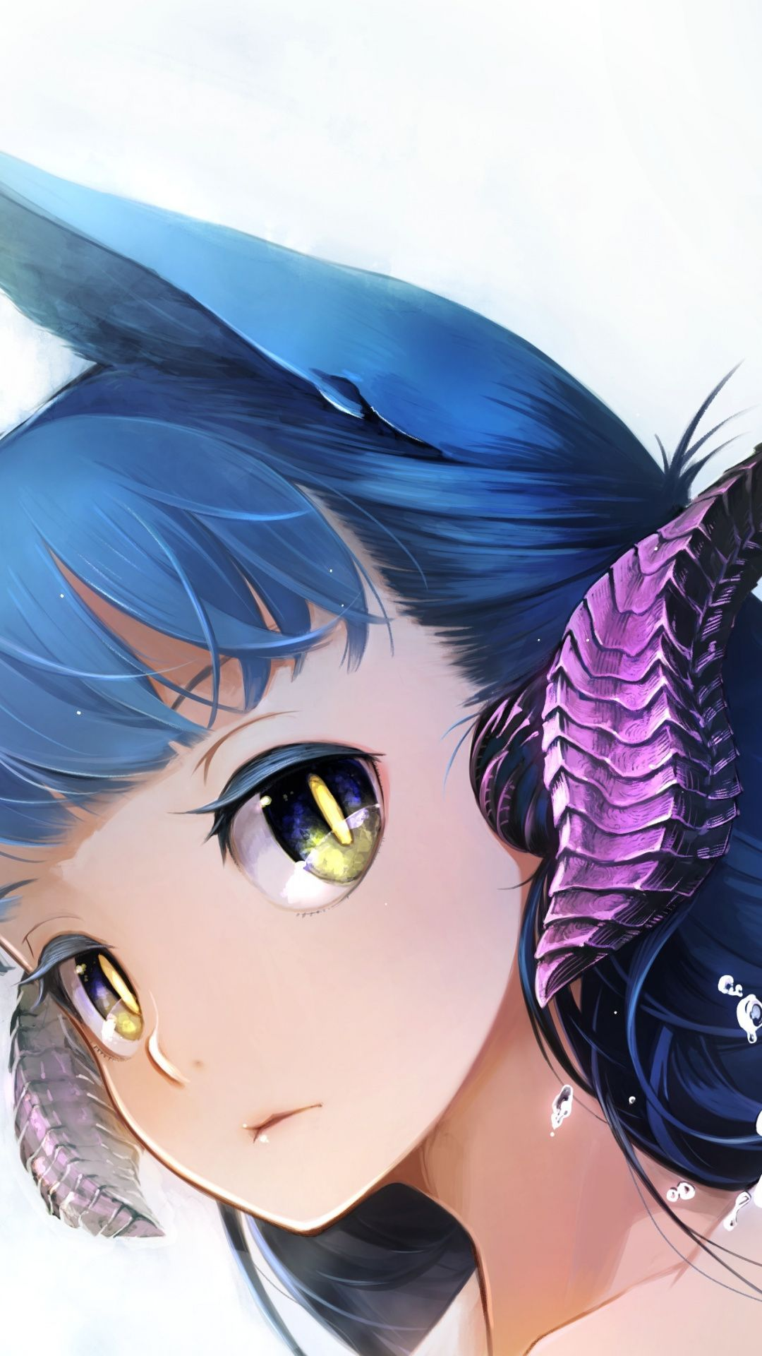 Wallpapers Smile Blue Hair Girl Creative Arts Fictional Character Anime Background Creative Art Character Wallpaper