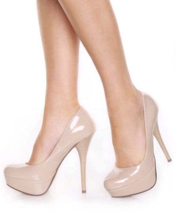Nude Patent Two Strap Barely There Heels | Missguided