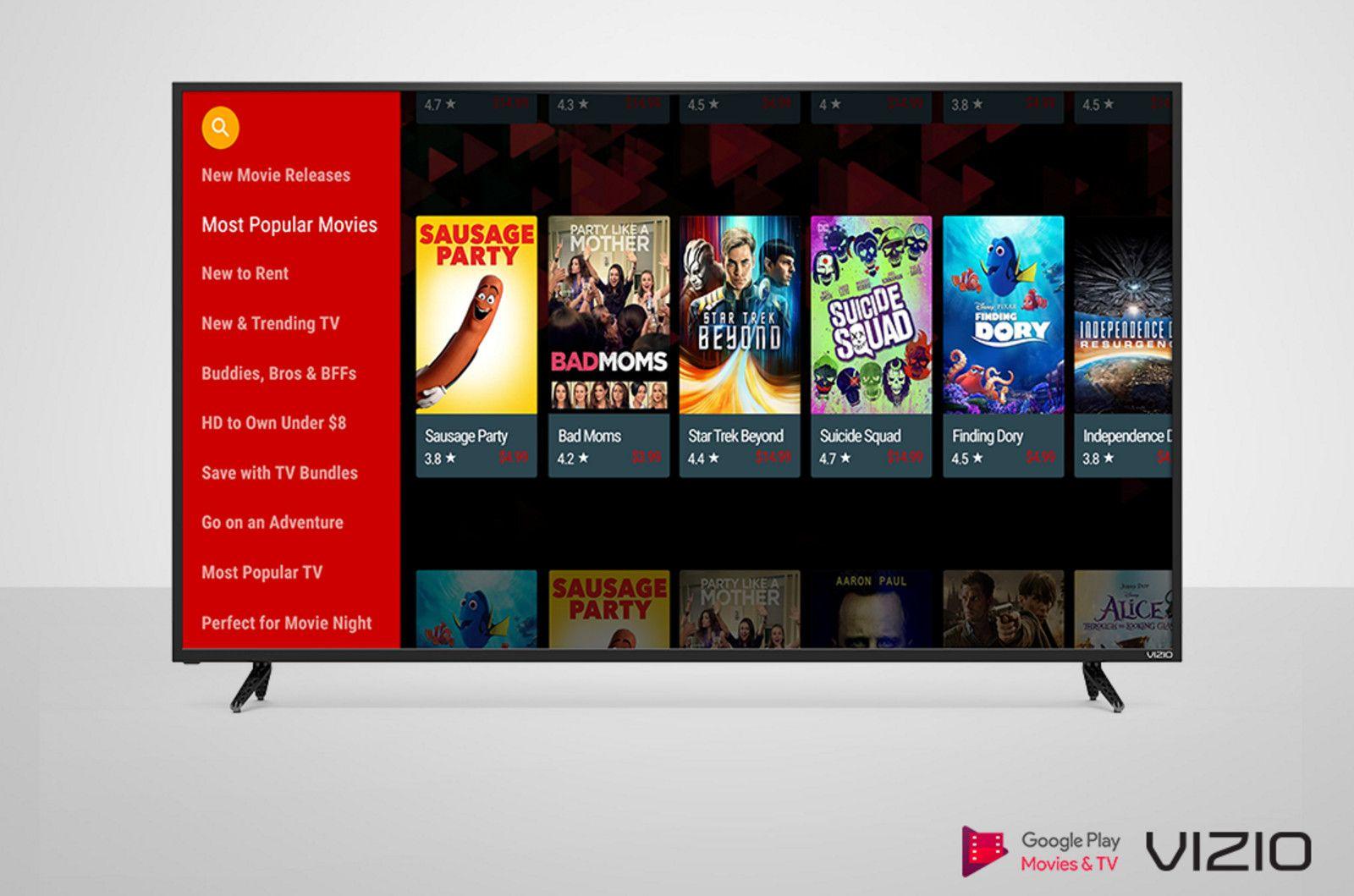 Vizio tvs add the google play video app vizio has been