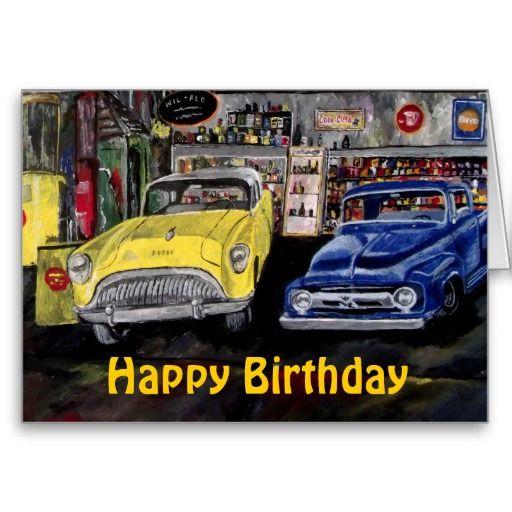 Happy Birthday Classic Car Card