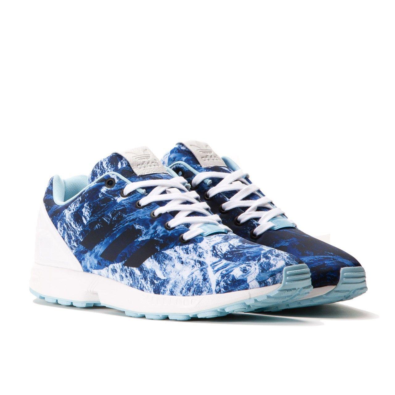 Adidas ZX Flux (Running White / Blush Blue / Core Black)