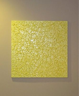 BluKatKraft: DIY Simple Textured Wall Art with String! | Art how-to ...