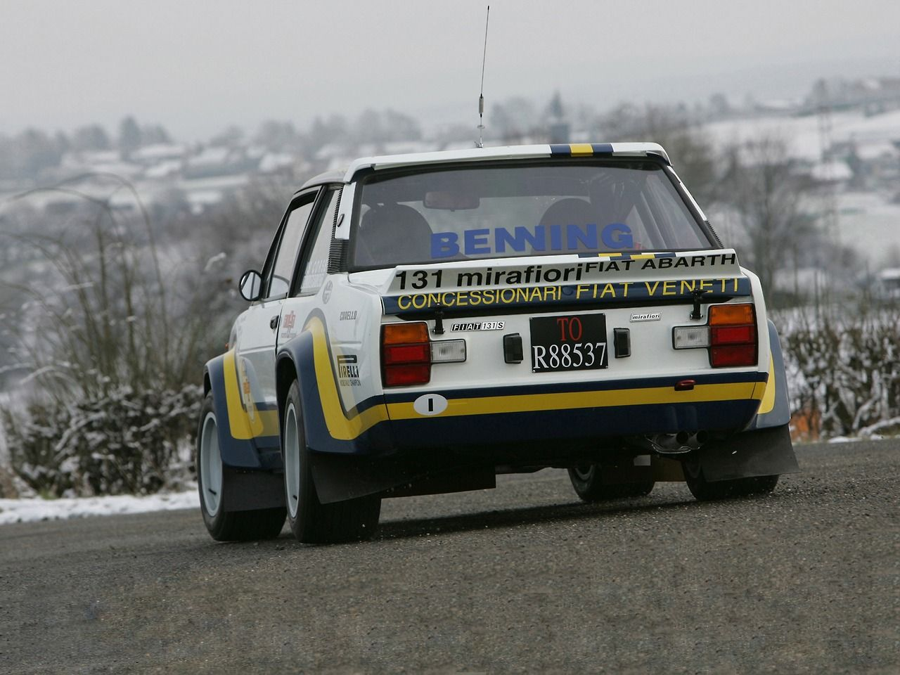 Fiat 131 Abarth Rally Car With Images Fiat Rally Car Fiat Abarth