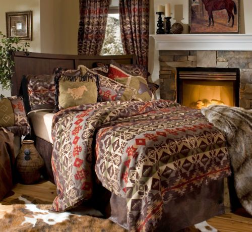 Montana Rustic Western Cowboy Comforter Bedding Set Bed In