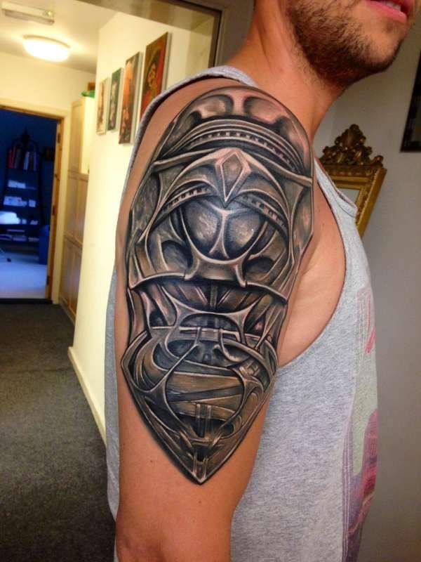 Superman Man Of Steel Jor El Armor Custom Design Tattoo Armor Tattoo Sleeve Tattoos Shoulder Armor Tattoo