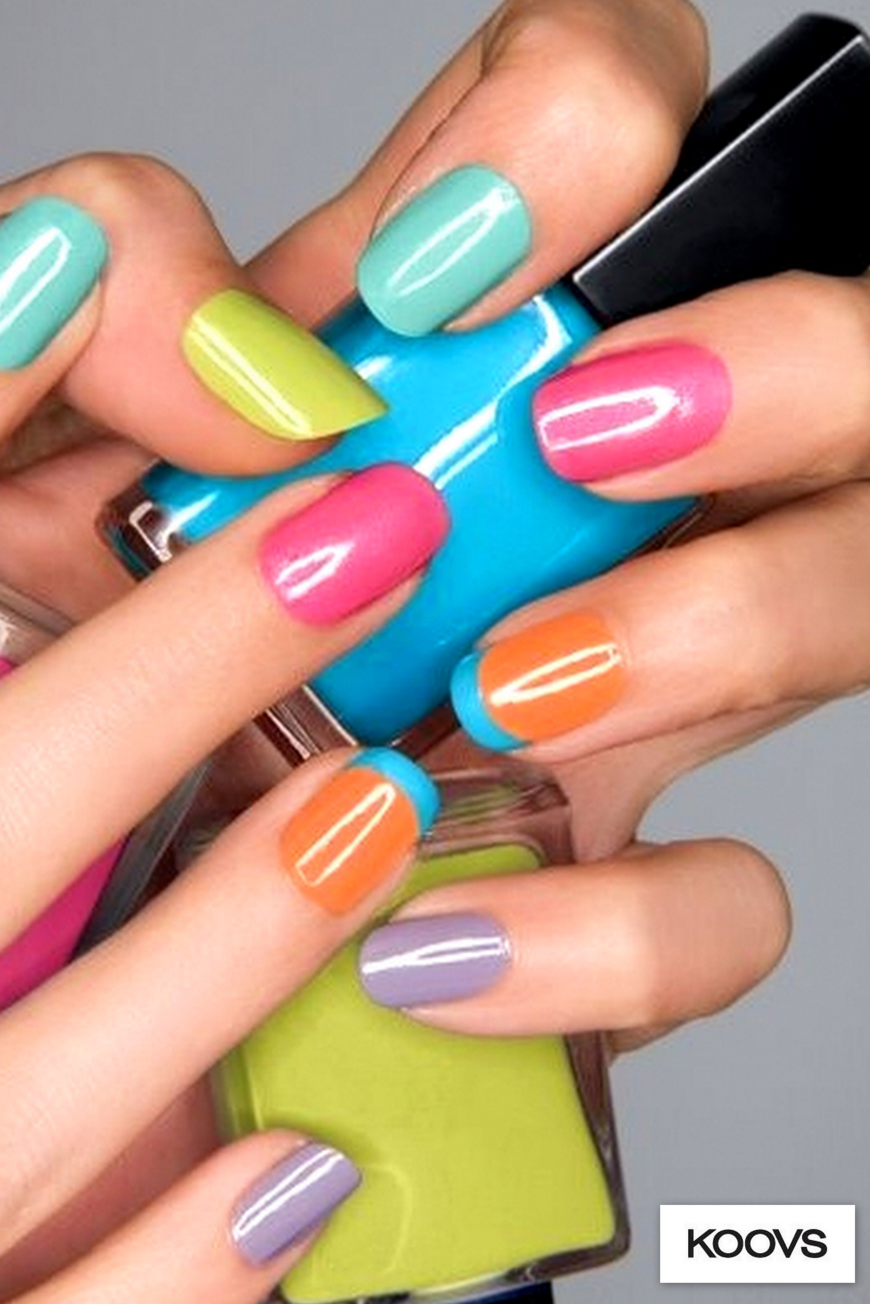 Paint your nails in five different colours and tell the world life ...