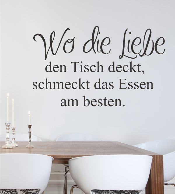 wandtattoo wandsticker wandaufkleber k chenwandtattoo wandtattoos f r die k che wo die. Black Bedroom Furniture Sets. Home Design Ideas