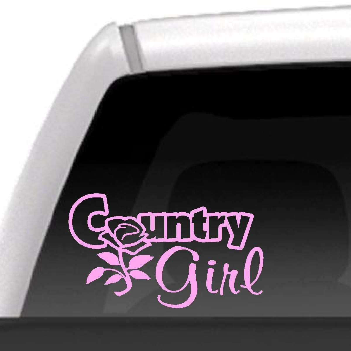 Country Girl Rose Decal Country Girl Sticker Truck Window Stickers Country Girls [ 1200 x 1200 Pixel ]
