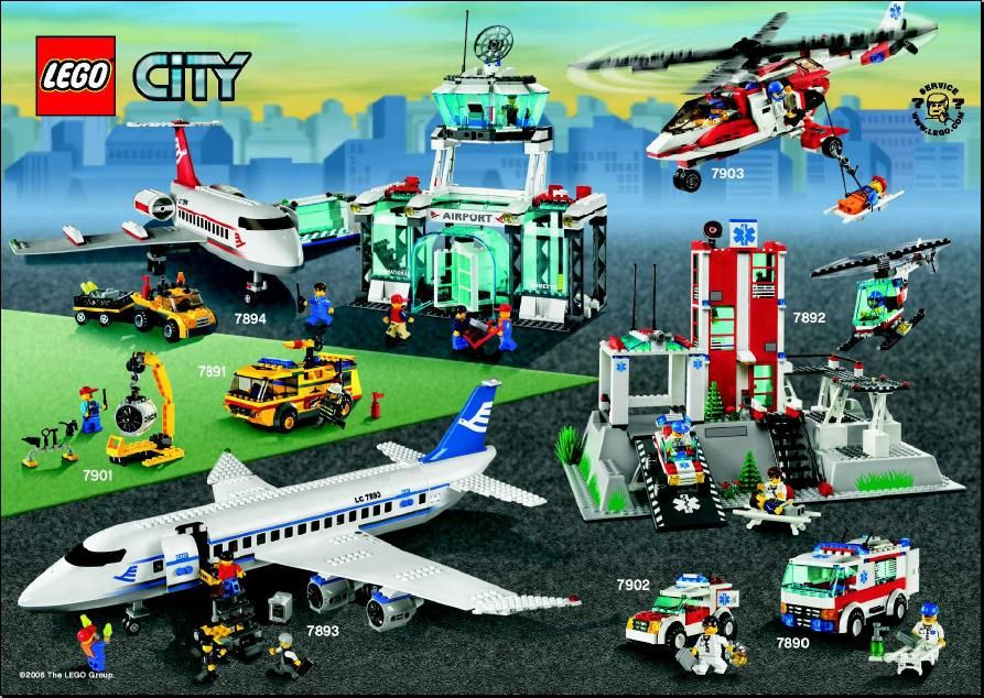 City Passenger Plane Lego 7893 Lego Instructions Pinterest
