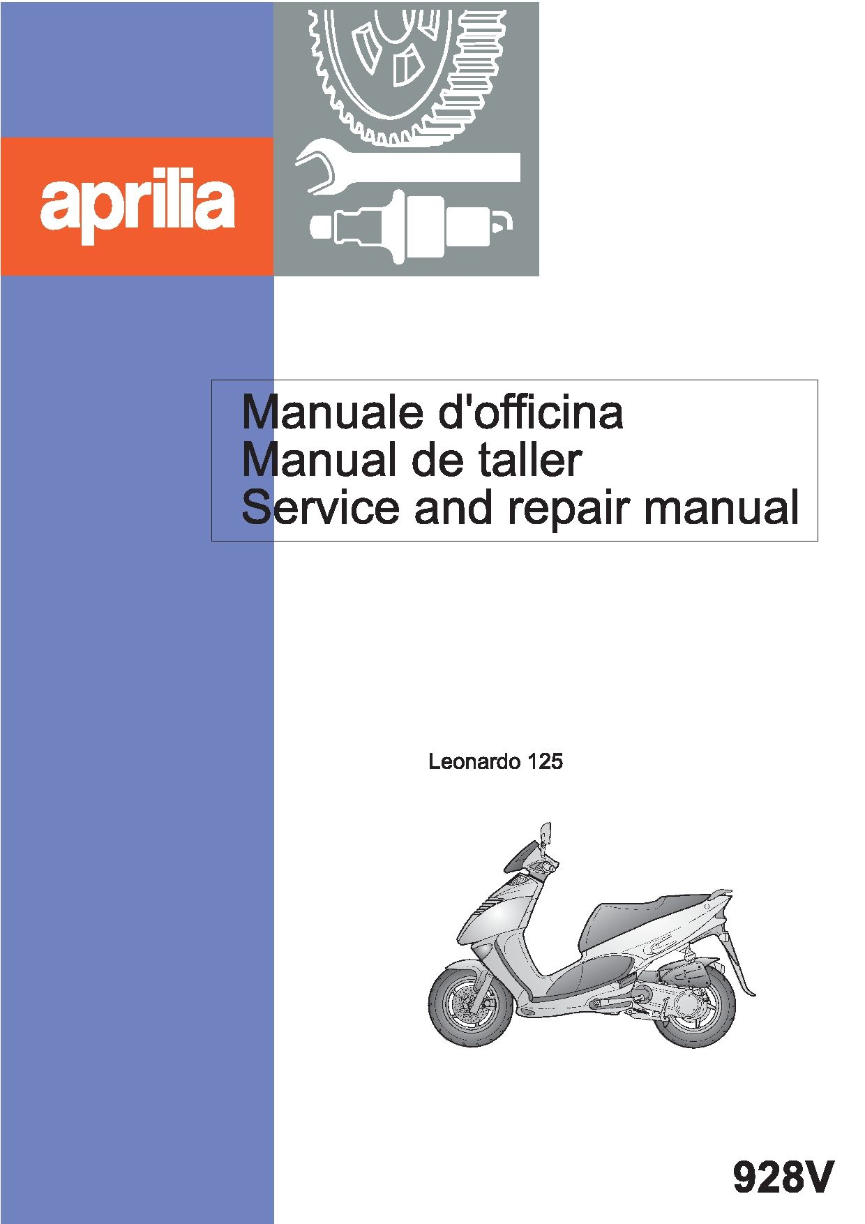 Aprilia Leonardo 125 1997 Repair Manual Pdf Download Service Manual Repair Manual Pdf Download Repair Manuals Aprilia Leonardo