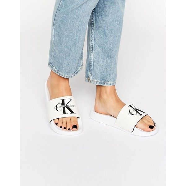Calvin Klein Jeans Chantal White Slider