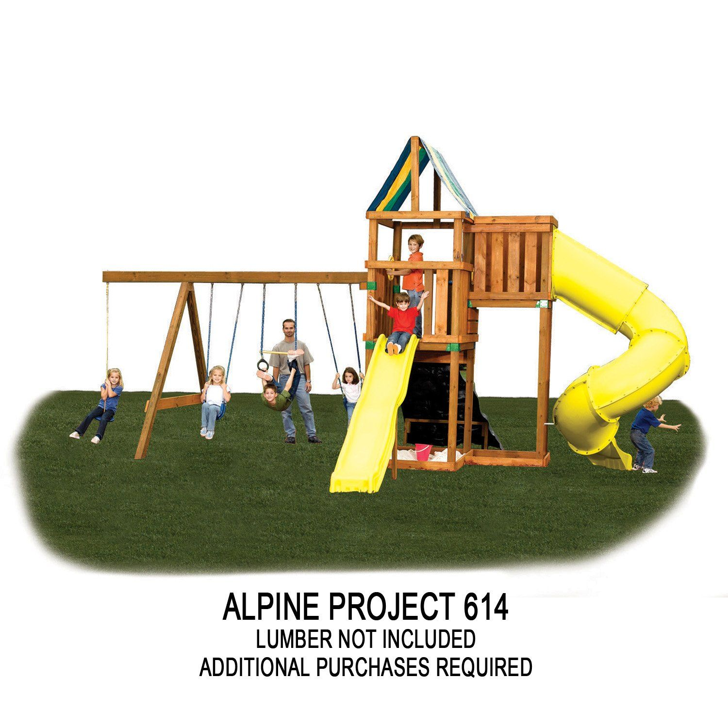 Amazon Com Alpine Custom Ready To Build Swing Set Kit Toys Games