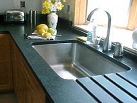 i like the soapstone counter tops with the under mount stainless steel sink