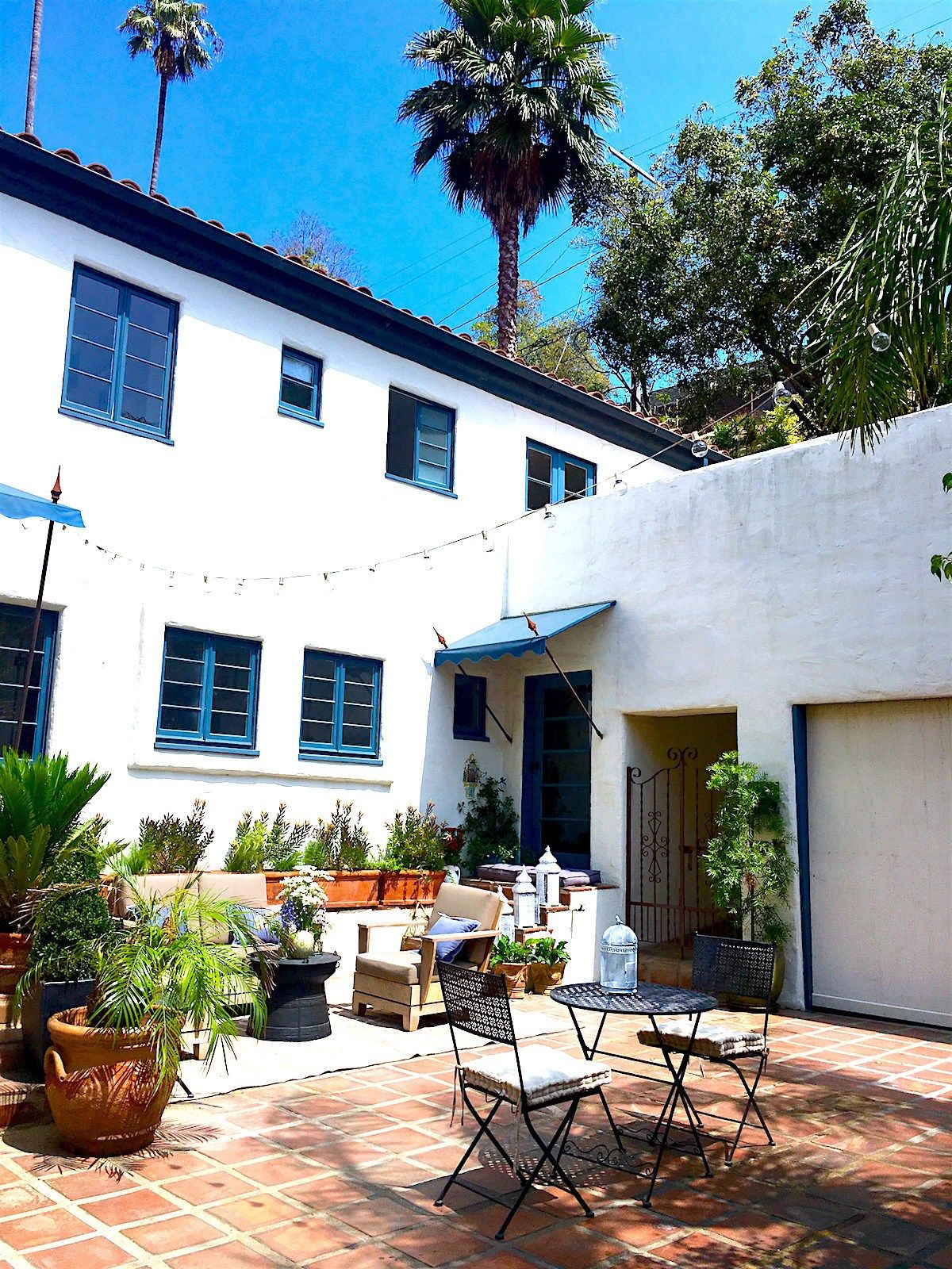 my house spanish style courtyard spanish colonial colonial and