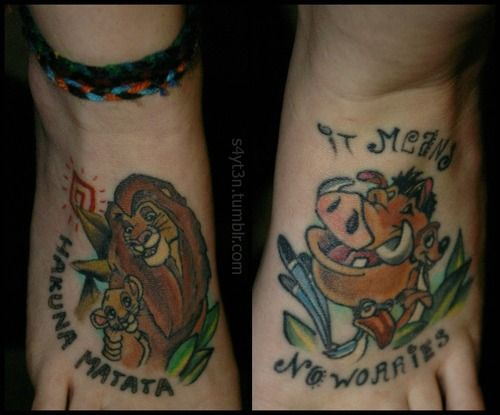lion king feet tattoos done by helen at zombie tattoo in norco ca tattoo ideas wicked. Black Bedroom Furniture Sets. Home Design Ideas