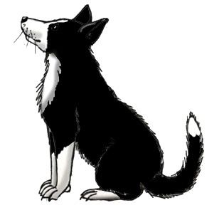 Farm Silhouette Clip Art | Farm Dog (Border Collie) -- Exploring Nature Educational Resource