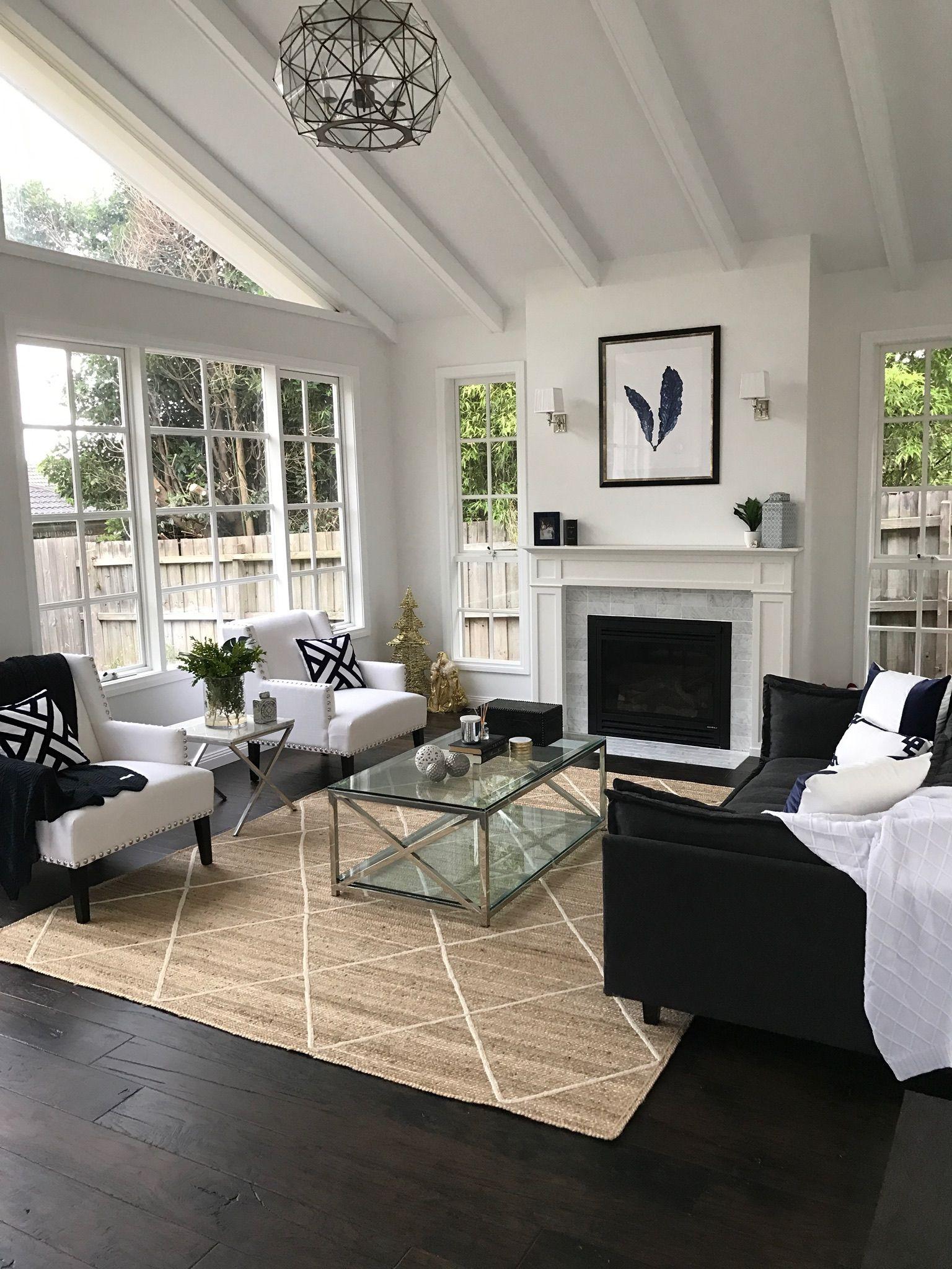 Hamptons Style Living Room Exposed Beams Hamptons Style Li