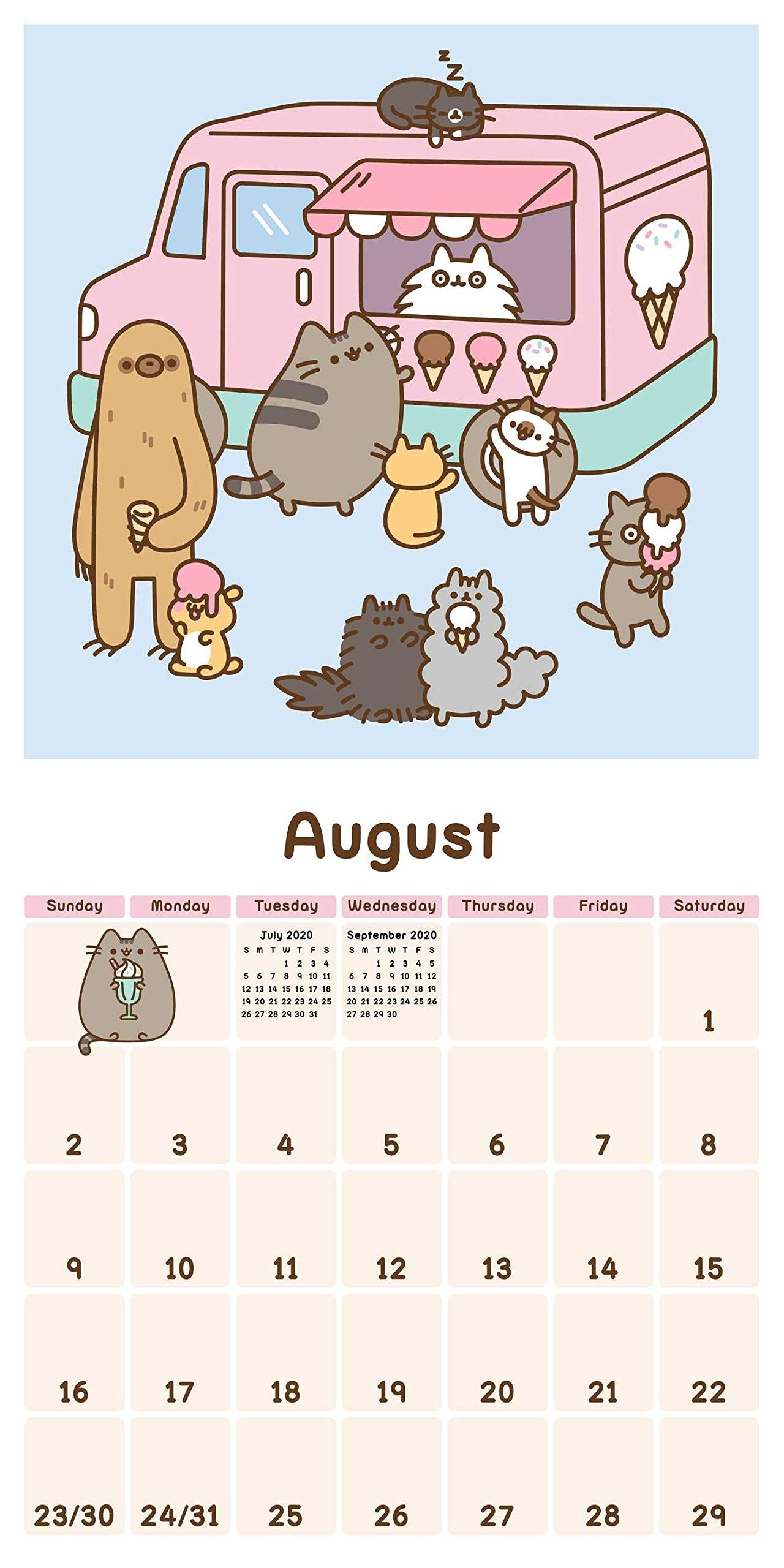 Calendrier Fun Car 2020.Pusheen 2020 Wall Calendar Calendar Wall Calendar July 16