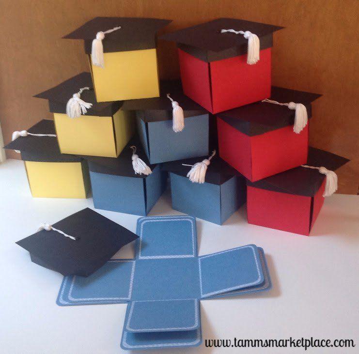 Pop Up Graduation Cap Invitation Box with 8 inside panels Set of ...