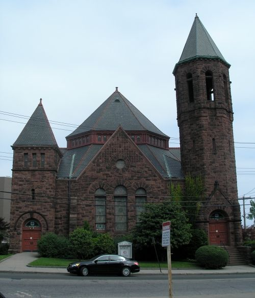 First Baptist Church Of Bridgeport Ct Circa 1893 Bridgeport
