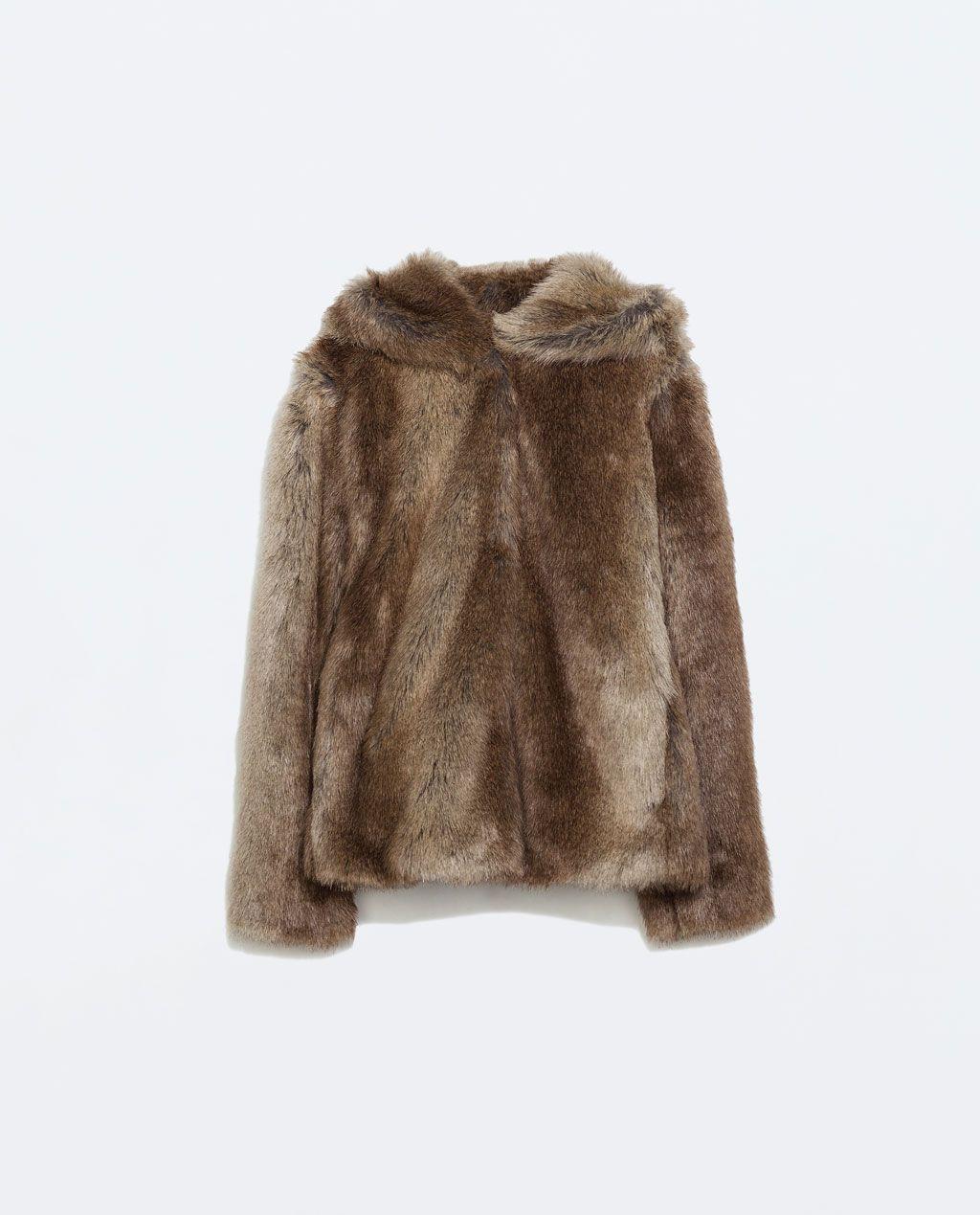 Abrigo de pelo reversible zara – Chaquetas de invierno 2018