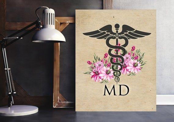 Gift For Doctor - Doctor Print - PRINTABLE Medical Art - Medical Student Gift - Caduceus Print #medicalstudents