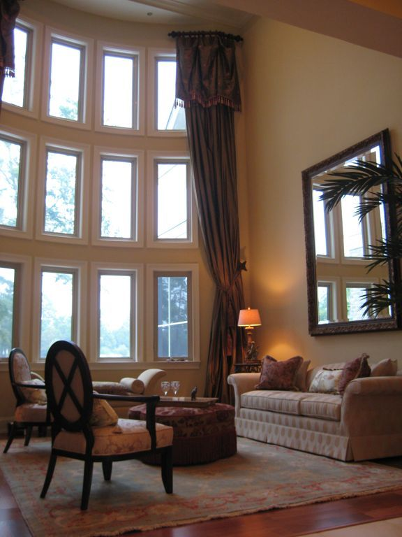 Decorations Great Tall Window Decoration For High Ceiling Interior