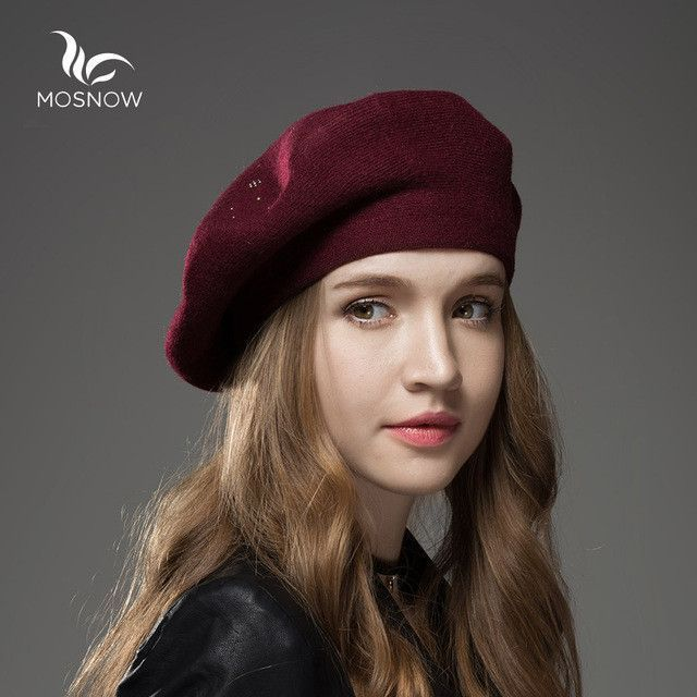 81573940cc0 Mosnow 2016 New Wool Cashmere Winter Hat Womens Warm Brand Casual High  Quality Women S Vogue Knitted