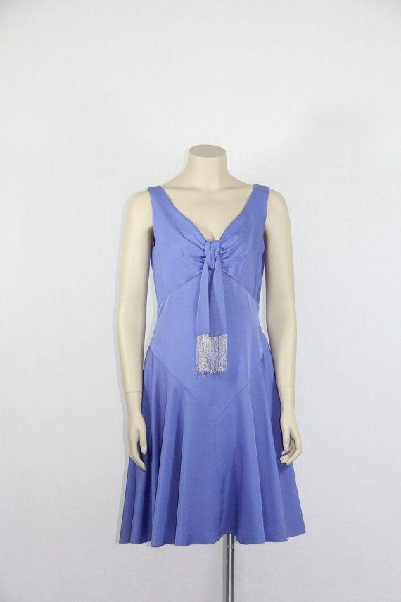 1960\'s Vintage Dress - Purple DESIGNER Lilli Diamond - Mini Flirty ...
