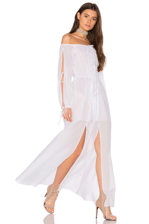 Majorelle santa clara maxi dress in ivory revolve mykonos