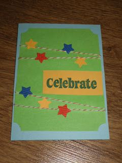 Easy little boy card, string, stars, massive greeting. | I could ...