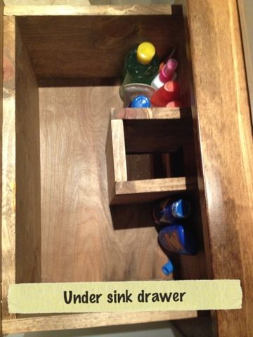 Ingenious drawer under vanity bathroom diy bathroom - Small bathroom vanity with drawers ...
