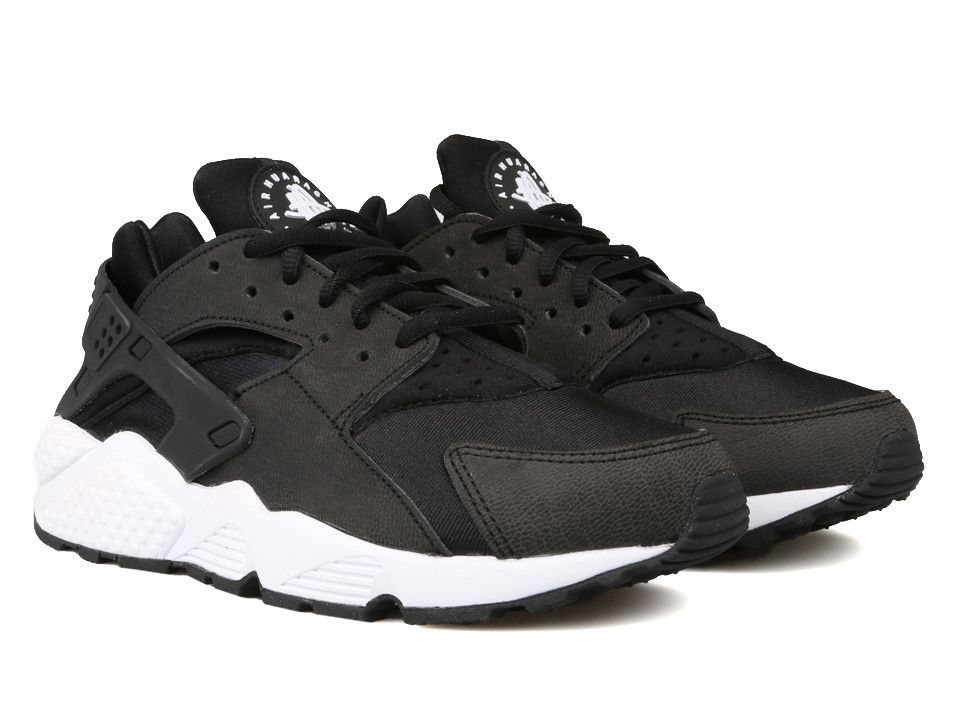 nike huarache women black and white