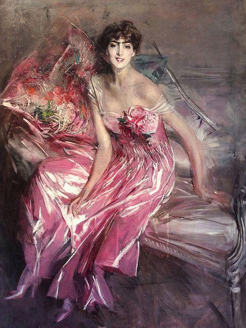 Giovanni Boldini - La Signora in Rosa 1916