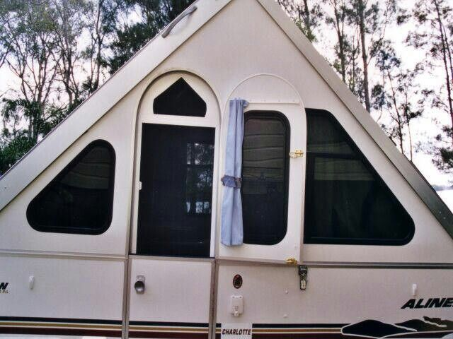 Custom Half Screen Door On Aliner A Frame Trailer A Frame Camper