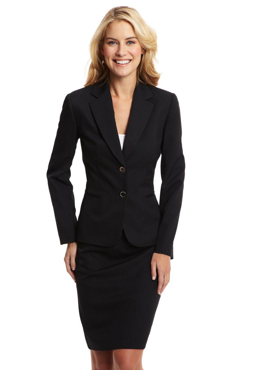 Black pinstripe dress suit