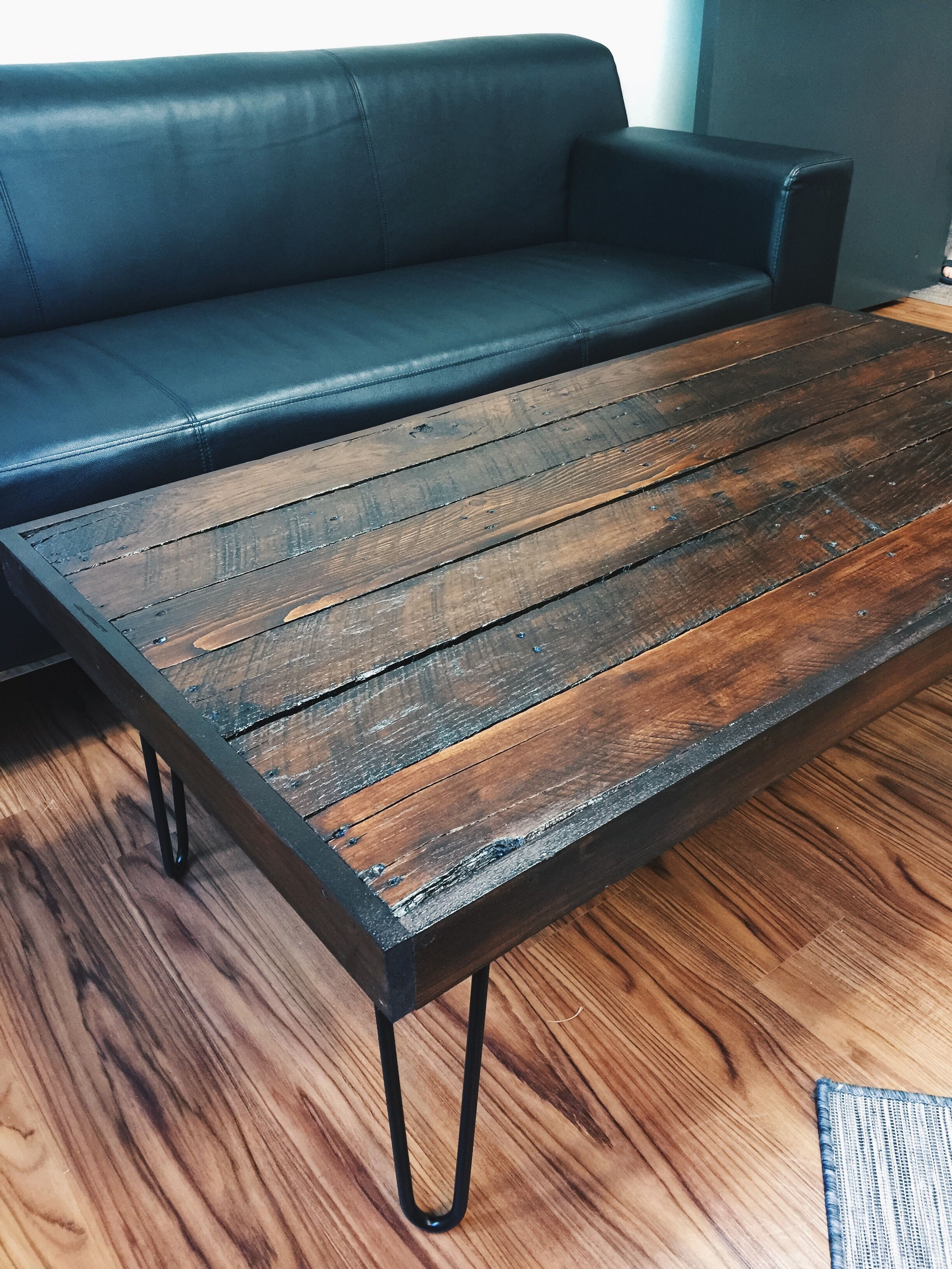 Pallet Coffee Table With Hairpin Legs Our Projects