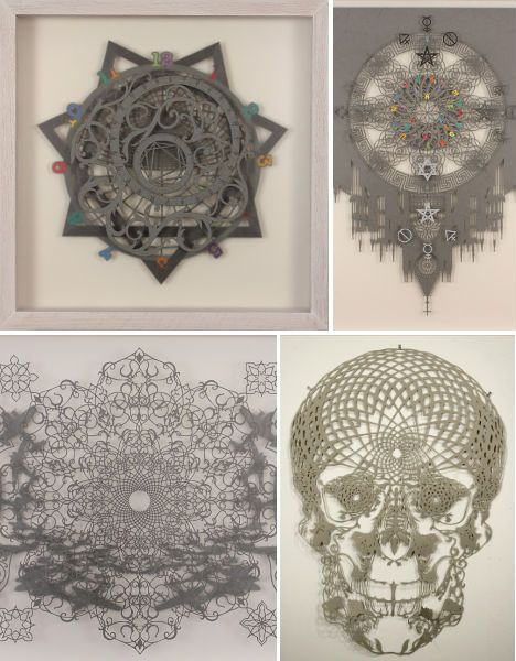 'Alchemically Yours', papercuts by Hunter Stabler