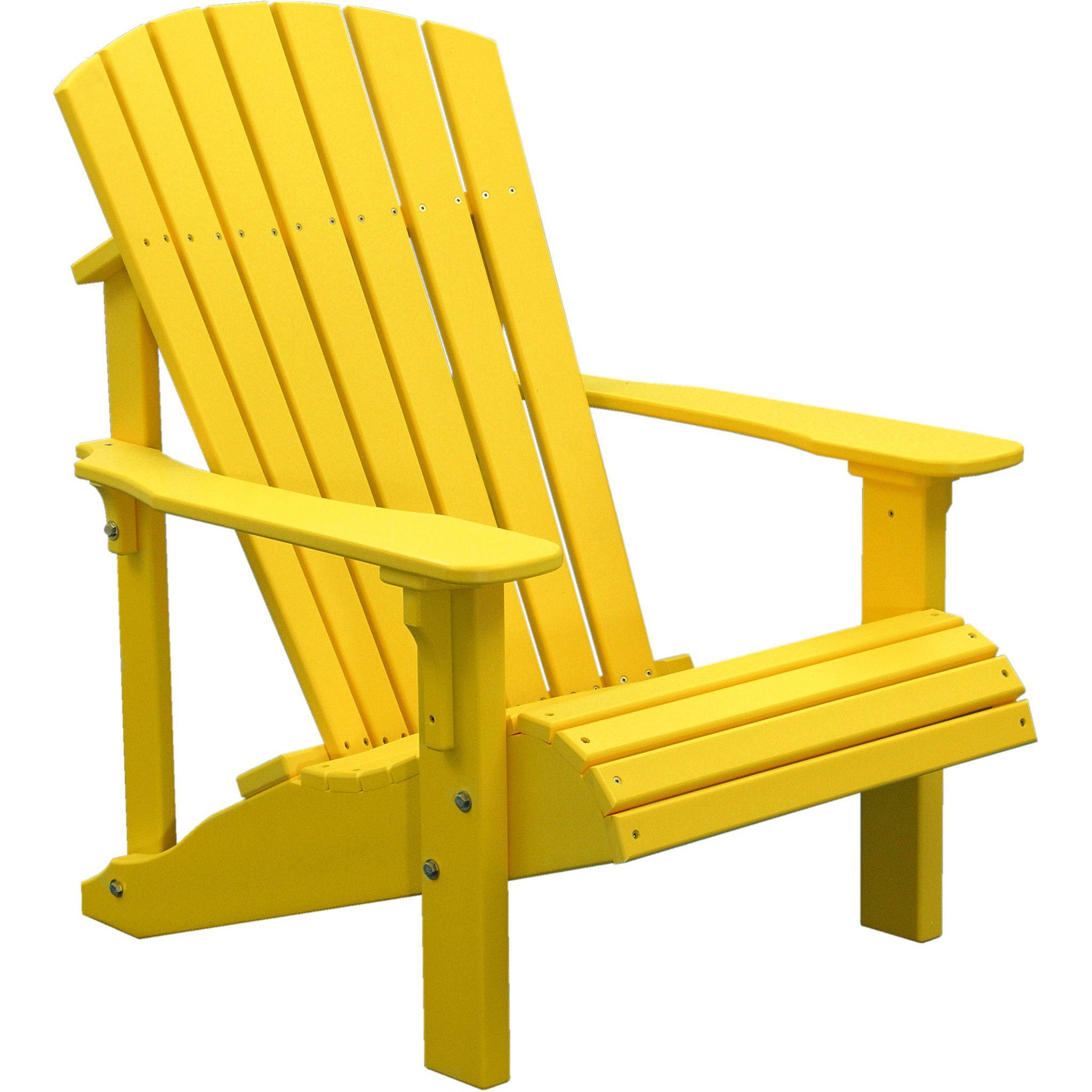 Yellow Adirondack Chairs Plastic Classic Leather Chair Luxcraft Deluxe Recycled