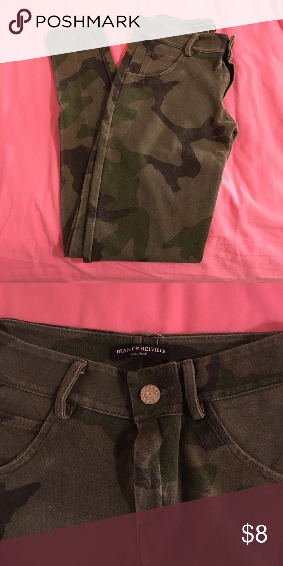 SOLD in a BUNDLE: BM camo jeggings Great condition! Brandy Melville Pants
