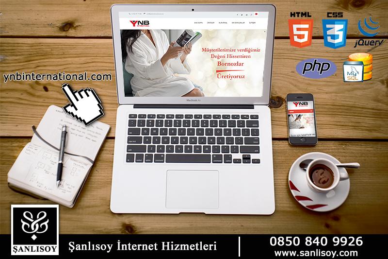 Ynb İnternational firması için birden fazla dil desteği ile geliştirmiş olduğumuz tüm platformlara uygun web tasarımı ve web programlama hizmeti ile web sayfasını yayın hayatına geçirdik. www.ynbinternational.com