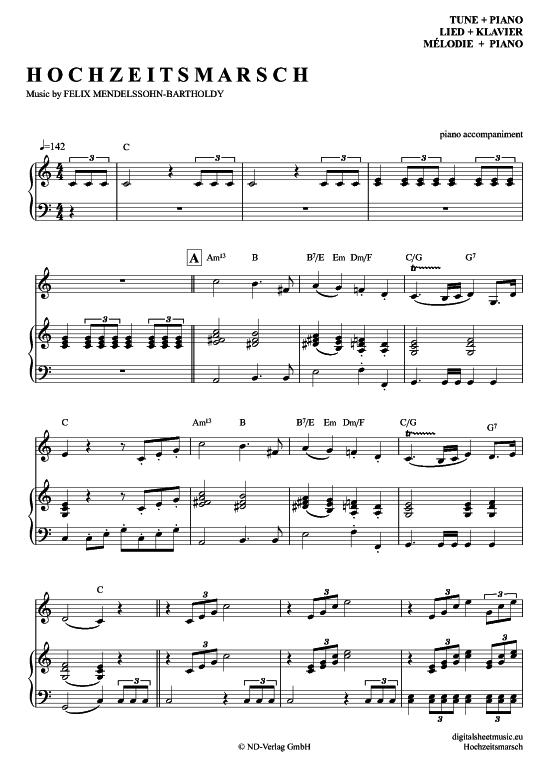 Hochzeitsmarsch Klavier Begleitung Melodie Pdf Noten Klick Auf Die Trio Noten Um Reinzuhoren Noten Zum Downloa Noten Klavier Klavier Klaviernoten
