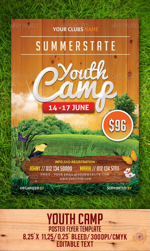 Youth Camp Flyer Template  In File And Search