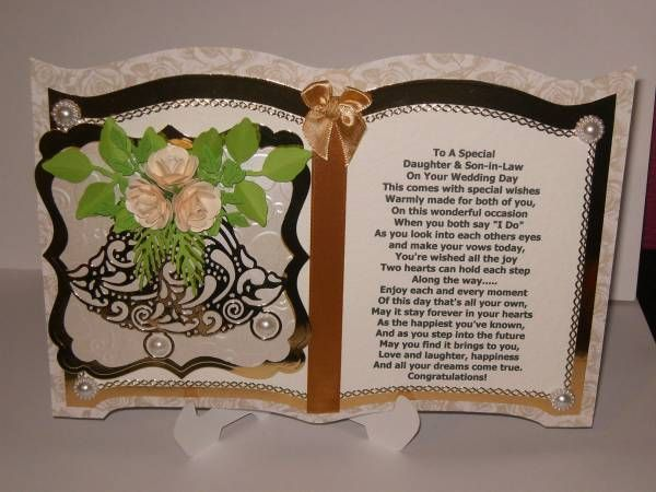 Boxed wedding card daughter and son in law handmade wedding
